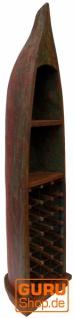 Boot Regal, Weinregal, Bücherregal aus altem Bootsrumpf 200 cm - Boot 7