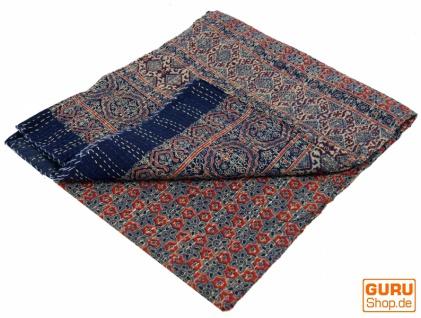 Quilt, Steppdecke, Tagesdecke Bettüberwurf, Besticktes Tuch, Indischer Bettüberwurf, Tagesdecke - Muster 35