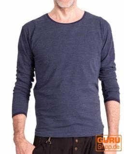 Pullover, Langarmshirt aus Bio-Baumwolle / Chapati Design - navy