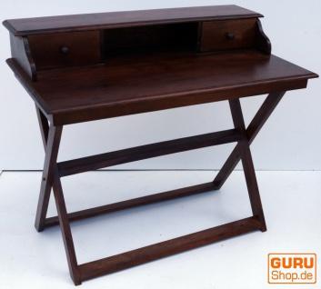 Schreibtisch mit klappbarem Ständer & 2 Schubfächern