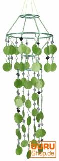 Exotischer Sonnenfänger, Suncatcher, LabaLuba Muschel Wind & Lichtspiel - grün