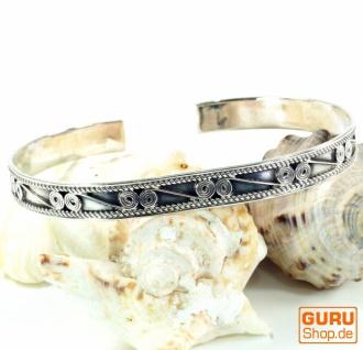 Boho Silber Armreifen, indische Armspange