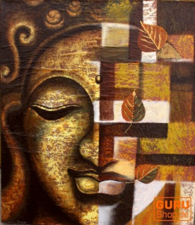 Gemälde auf Leinwand Buddha 120*100 cm - Motiv 4