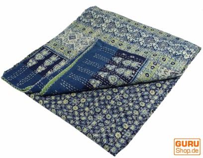 Quilt, Steppdecke, Tagesdecke Bettüberwurf, Besticktes Tuch, Indischer Bettüberwurf, Tagesdecke