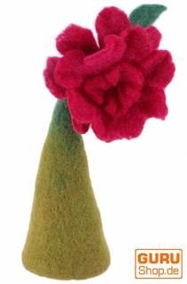 Filz Eierwärmer, Filzdekoration, Tischdeko Rose - grün