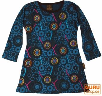 Bestickte Mädchen Tunika, Ethno Minikleid, Kinderkleid - petrol