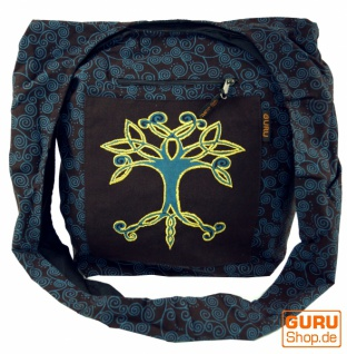 Sadhu Bag, Shopper, Schulterbeutel - dunkelbraun