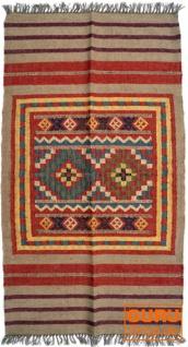 Orientalischer grob gewebter Kelim Teppich 160*90 cm - Muster 3