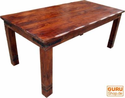 Esstisch mit runden Kanten & Beschlag R509 dunkel