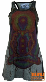 Weed Top, Longshirt, Minikleid Chakra Yogi - granitgrau