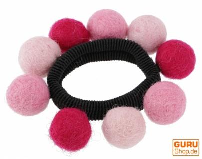 Haargummi `Filzkugel` - pink