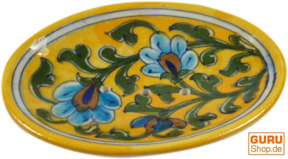 Handbemalte Keramikseifenschale Nr. 2