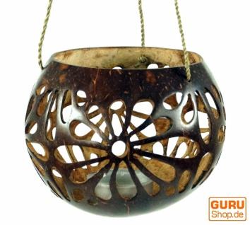 Kokosnuss Teelicht zum Hängen - Modell 2
