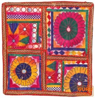 Patchwork Kissenhülle, Dekokissen Bezug aus Rajasthan, Einzelstück - Muster 27