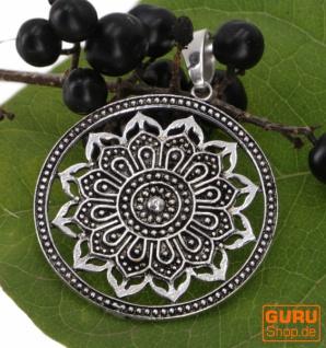 Amulett Mandala, Kettenanhänger Boho - Modell 1/ silber