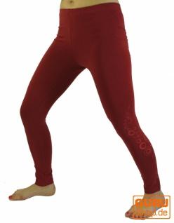 Damen Leggings, Stretch Sporthose für Frauen, Yogahose aus Bio-Baumwolle - himbeer