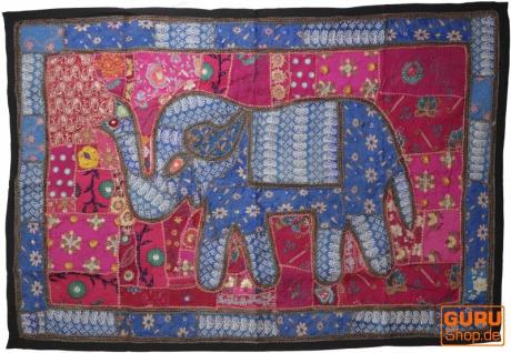 Indischer Wandteppich Patchwork Wandbehang, Einzelstück 150*100 cm - Muster 61