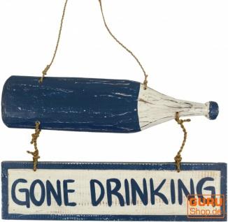 Wandschild `bin was trinken`
