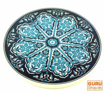 Orientalischer Keramikuntersetzer, runder Untersetzer mit Mandala Motiv - Muster 3