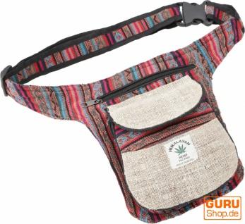 Hanf Ethno Sidebag, Nepal Gürteltasche - Modell 12