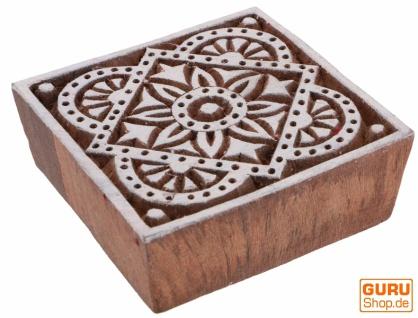 Indischer Textilstempel, Stoffdruckstempel, Blaudruck Stempel, Holz Model - 7*7 cm Blume 3