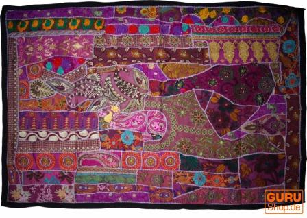 Indischer Wandteppich Patchwork Wandbehang, Einzelstück 150*100 cm - Muster 13
