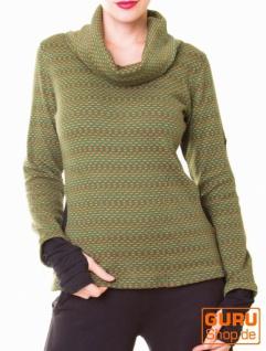 Pullover aus Bio-Baumwolle / Chapati Design - green polka