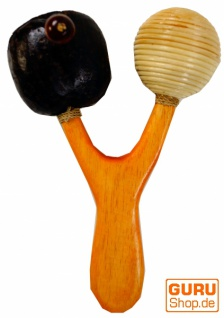 Musikinstrument aus Holz, Musik Percussion Rhythmus Klang Instrument, handgearbeitet - Handrassel 5
