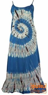 Batik Boho Sommerkleid, Hippiekleid - blau