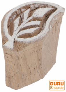 Indischer Textilstempel, Holz Stoffdruckstempel, Blaudruck Stempel, Druck Modell - 2, 5*1, 5 cm Blatt 3