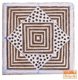 Indischer Textilstempel, Holz Stoffdruckstempel, Blaudruck Stempel, Druck Modell - 5*5 cm Spirale 3