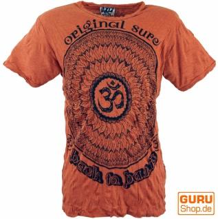 Sure T-Shirt Mandala OM - rostorange
