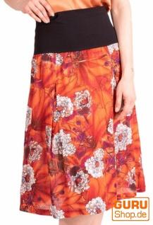 Midi-Rock, Midi-Rock/ Skirt / Chapati Design - orange asian