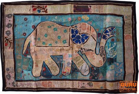 Indischer Wandteppich Patchwork Wandbehang, Einzelstück 150*100 cm - Muster 58