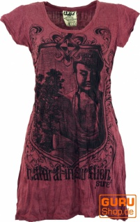 Sure Long Shirt, Minikleid Bodhi Baum Buddha - bordeaux
