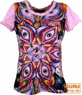 Mirror T-Shirt - Auge / rosa