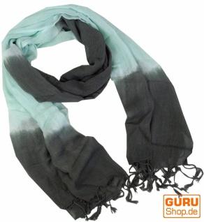 Feiner Baumwollschal mit Farbverlauf mint/grau - Vorschau 1