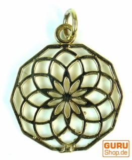 Indisches `Flower of life` Amulett, Talisman Medaillon - Model 4 2