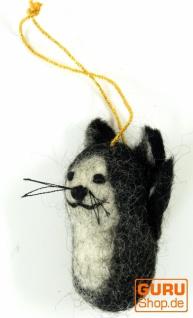 Filz Anhänger, Filzdekoration, Baumbehang - Katze