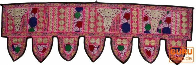 Orientalischer Wandbehang, indischer Toran, Wimpel Wandteppich, Wanddekoration, Tür Deko Einzelstück 150*45 cm - Design 8