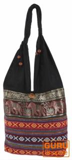 Sadhu Bag, Ethno Schulterbeutel, Hippie Tasche aus Thailand - bordeauxrot