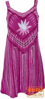 Besticktes indisches Minikleid Boho chic, Hippie Tunika - pink Design 6