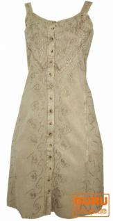Besticktes indisches Boho Kleid, Hippie chic Minikleid, beige - Design 26