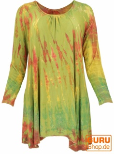 Batik langarm Tunika, Hippie chic - lemon