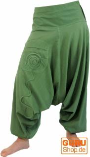 Goa Pluderhose, Aladinhose - grün