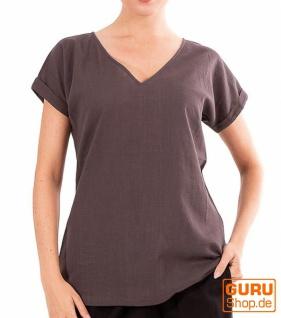 T-Shirt aus Bio-Baumwolle / Chapati Design - grey