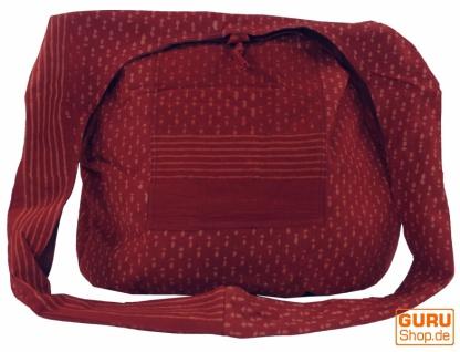 Sadhu Bag, Umhängetasche, Blockdruck Hippie Schultertasche - rot