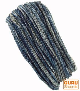 Magic Hairband, Dread Wrap, Schlauchschal, Stirnband, Mütze - Loopschal blau