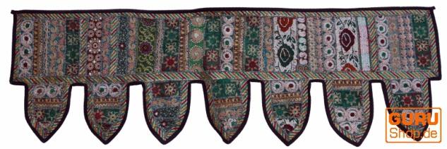 Orientalischer Wandbehang, indischer Toran, Wimpel Wandteppich, Wanddekoration, Tür Deko Einzelstück 150*45 cm - Design 18