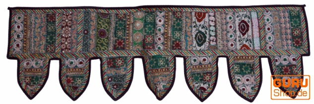 Orientalischer Wandbehang, indischer Toran, Wimpel Wandteppich, Wanddekoration, Tür Deko Einzelstück 150*45 cm - Design 2